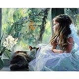 Kit de pintura de diamante 5D DIY painting Figura de vestido de novia de ventana Crystal Rhinestone de punto de cruz bordado artes manualidades suministros para decoración de la pared del hogar