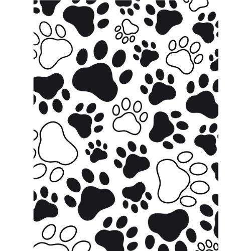 Darice Carpetas de estampación, Plantilla impresión de Patas, Plastic, 4.25x4.25x0.08 Inches