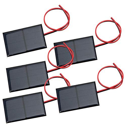 Kit de panneau solaire pratique 5 pièces, effets de faible luminosité, panneau de batterie solaire, pour lampes de pelouse solaires pour la recherche d'énergie solaire
