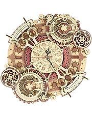 ROKR Puzzle Bois 3D Zodiaque Mur l'horloge pour Adultes Enfants de Plus 14 Ans Construction AdulteCadeaux de Décoration Rétro 168 Pièces, Zodiac Wall Clock