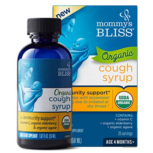 Mommy's Bliss - Organic Baby Cough Syrup + Immunity Boost - 1.67 FL OZ Bottle
