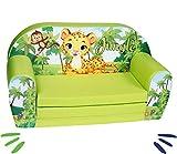 Delsit Dschungel Sofá Infantil Plegable Selva, Verde, Uni