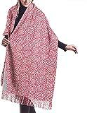 Bufanda de la manta de la bufanda del abrigo del mantón de la estola del abrigo, cachemir de las mujeres del invierno del modelo de los ciervos de la Navidad
