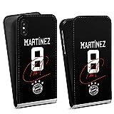 DeinDesign Flip Case kompatibel mit Apple iPhone XS Tasche Hülle Martinez #5 FC Bayern München Trikot
