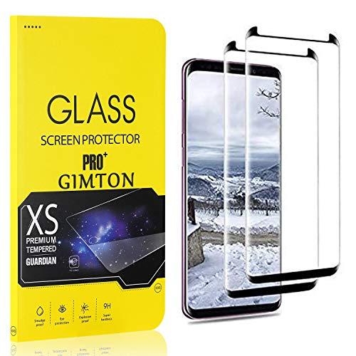 GIMTON Displayschutzfolie für Galaxy S8, 9H Härte, Anti Bläschen Displayschutz Schutzfolie für Samsung Galaxy S8, Einfach Installieren, 2 Stück