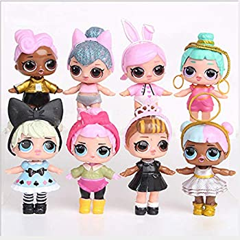 L.O L S U R P R I S E! 8 Pieces LOL Dolls Toys for Girls Surprise Baby Doll Toys Kids Birthday 8cm Hobbies Action Toy Figures Best Gift