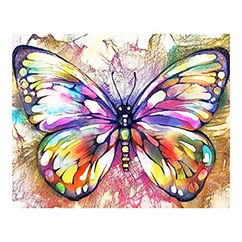 WOYAOFEI 5D Diamond Painting Kit Full Maple Leave Butterfly DIY 5D Diamond Painting DIY 5D Diamond Painting Crystal Rhinestone Embroidery Cross Stitch Arts Craft for Home Wall Decor