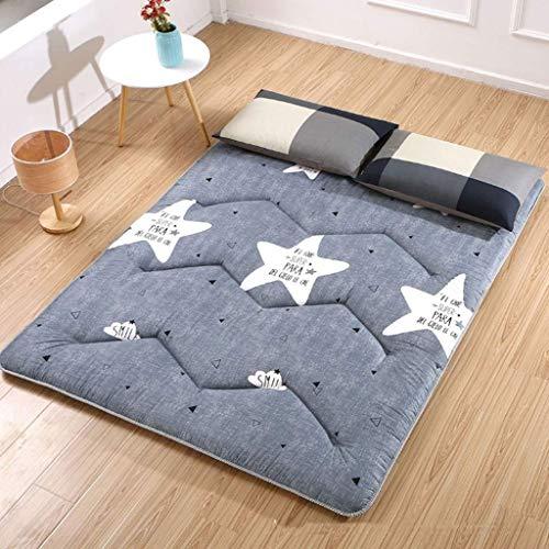 Doux Japanse Futon matras, inklapbaar en oprolbaar, matras voor futon, gewatteerd, ruimtebesparend 200x120cm(79x47inch) C