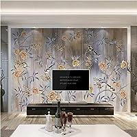 写真の壁紙3D立体空間カスタム大規模な壁紙の壁紙 古典芸術の花と鳥の壁の装飾リビングルームの寝室の壁紙の壁の壁画の壁紙テレビのソファの背景家の装飾壁画-280X200cm(110 x 78インチ)