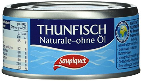Saupiquet Thunfisch - stücke in Wasser, 24er Pack (24 x 185 g)