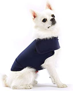 Furubaby Anxiety Dog Coat a Shirt Calm Down Dog Jacket for xs Small Medium Large XL Dogs | Solid Color Blue Gray Green Pink Thunder Dog Wrap(Dark Blue)