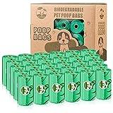 Cycluck Biodegradables 450 Caca Perro Bolsas Extra Gruesa Prueba de Fugas Bolsas Hecho de la Mezcla de almidón de maíz (450 Bolsas, Verde)