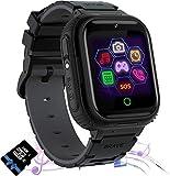Jaybest Smartwatch Niños, Reloj Inteligente Niños de MP3 1.44 Pantalla Táctil en Color con Llamada Juego Cámara Música (Black)