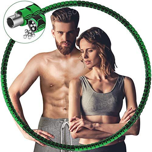 DUTISON Fitness Hula Hoop Reifen Erwachsene, Hula Hoop Reifen Stabiler Edelstahlkern und Längeres Leben, EIN 8-Teiliger Abnehmbarer Hoola Hoop Reifen für Fitness/Trainin/Bauchmuskelkonturen - 1.1kg