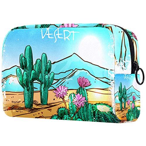 Travel Toiletry Bag, Waterproof Travel Bags, Toiletry Bag for Women and Girls,Desert Cactus Plant