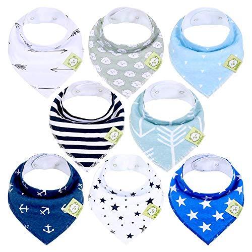 Organic Baby Bandana Drool Bibs - Bandana Bibs for Boys, Girls by KeaBabies- Super Absorbent Bandana Drool Bibs - Teething Bibs - Organic Cotton Baby Bibs for Infant (Adventurer)
