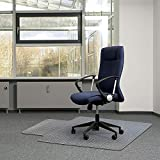Kuyal Office Chair Mat for Carpets,Transparent Thick and Sturdy Highly Premium Quality Floor Mats for Low, Standard and No Pile Carpeted Floors, with Studs (36' X 48' with Lip)