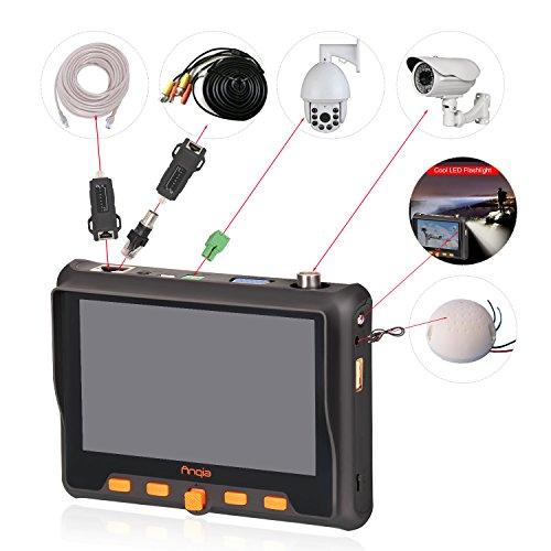 'Multifunktions-4-in-1-CCTV Tester, 1080P, AHD, TVI CVI CVBS Video Monitor-Test, PTZ, 12V und-om-5800s (schwarz)