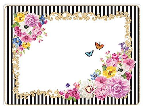 Jd Diffusion 961GLUR Rigides Flowers - Set di 4 tavoli, Multicolore
