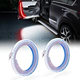 MICTUNING Car Door LED Strip Light - 2 Pcs 144 LEDs Interior Car Lights Auto Opening Flashing Signal Warning Light Strobe Streamer, Side Light for Lighting, Decoration, and Anti Rear-end Collision