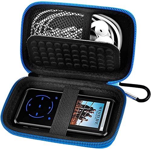 Custodia per lettore MP3 portatile, per lettore musicale da viaggio, compatibile con lettore MP3 SuperEye/Soulcker/Victure/iPod Touch/Nano/Shuffle/AGPTEK/Aigital/Hotechs/BENJIE MP3 (blu)