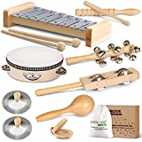 LOOIKOOS Toddler Musical Instruments, Eco Friendly Musical Set for Kids Preschool Educational,...