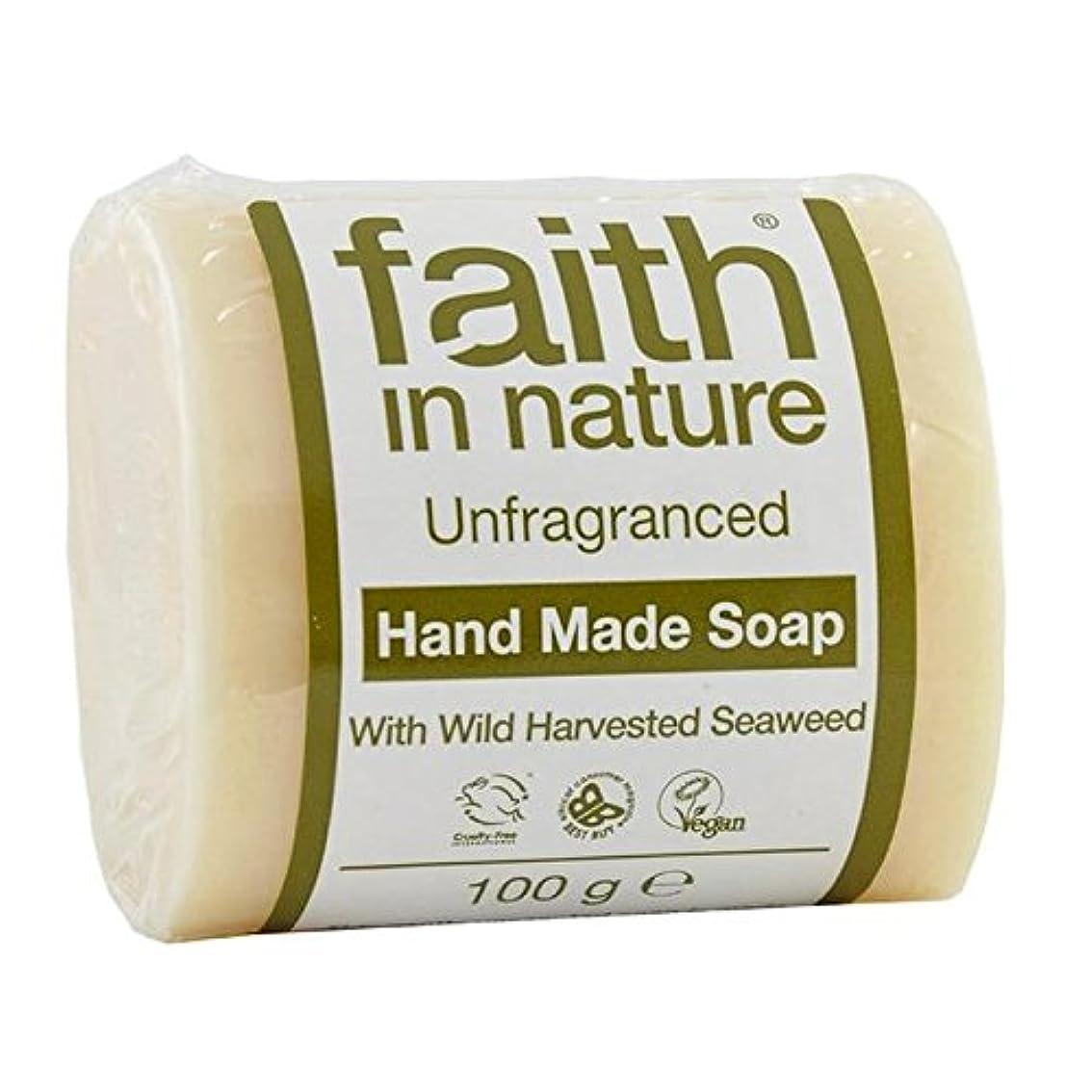 バンケット論理的にウェーハFaith in Nature Unfragranced Pure Hand Made Soap 100g (Pack of 2) - (Faith In Nature) 自然の中で信仰は純粋な手作り石鹸100グラムを無香料 (x2) [並行輸入品]