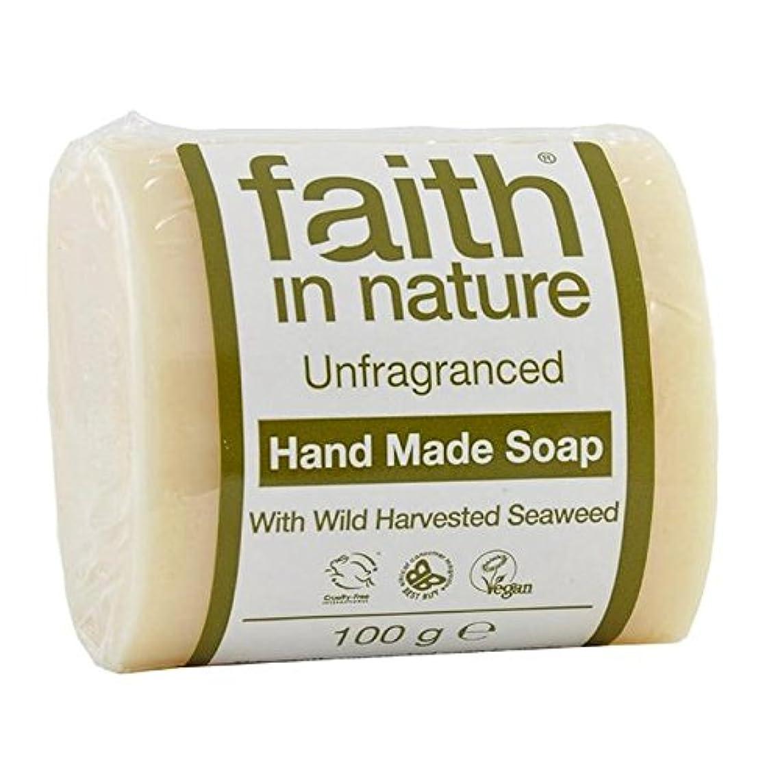 に住むバーFaith in Nature Unfragranced Pure Hand Made Soap 100g (Pack of 4) - (Faith In Nature) 自然の中で信仰は純粋な手作り石鹸100グラムを無香料 (x4) [並行輸入品]