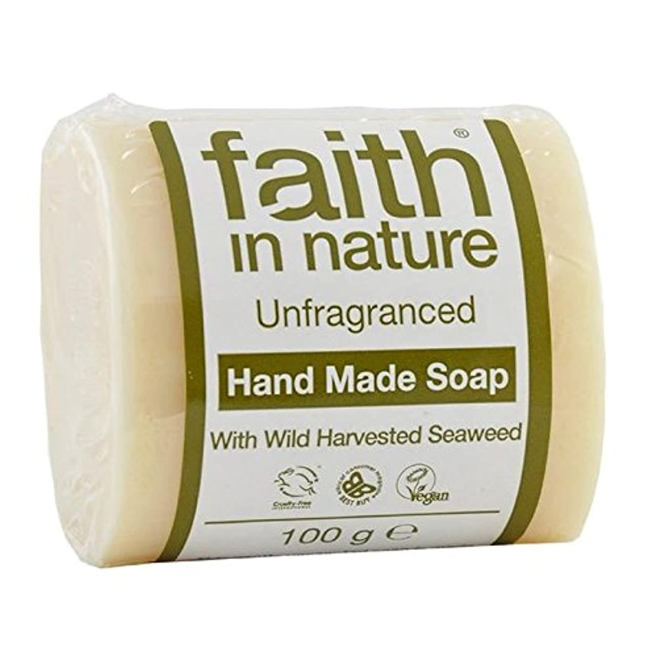 オーロック優れましたセーブFaith in Nature Unfragranced Pure Hand Made Soap 100g (Pack of 2) - (Faith In Nature) 自然の中で信仰は純粋な手作り石鹸100グラムを無香料 (x2) [並行輸入品]