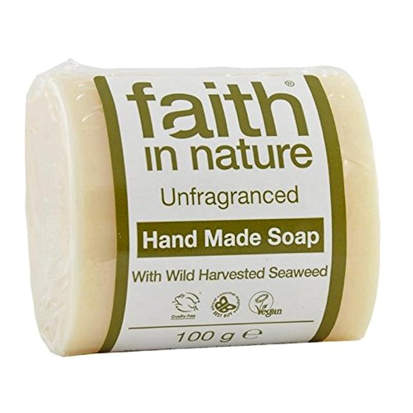 一月石炭道徳のFaith in Nature Unfragranced Pure Hand Made Soap 100g (Pack of 4) - (Faith In Nature) 自然の中で信仰は純粋な手作り石鹸100グラムを無香料 (x4) [並行輸入品]