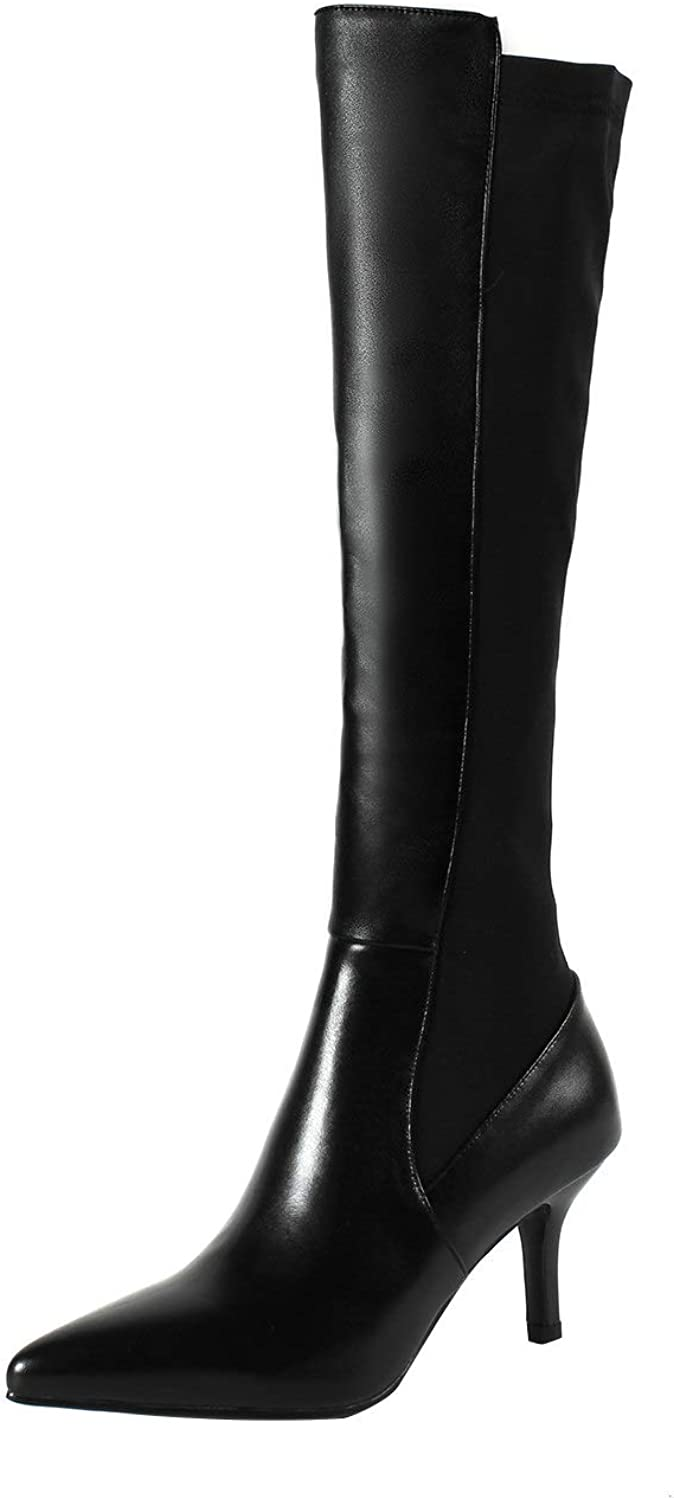 MAYPIE Womens Toanyho Leather Zipper Knee-High Boots