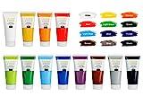 Creative Deco Acryl-Farben Set | 12 Groß 100 ml Röhren | Farbset Hergestellt in EU | Für Anfänger Studenten Künstler und Profis | Ideal für Holz Leinwand Stoff und Papier | 12 x 100 ml Tuben - 2