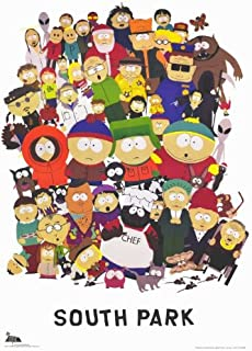 Pop Culture Graphics South Park Poster TV 11x17 Trey Parker Matt Stone Mary Kay Bergman Isaac Hayes