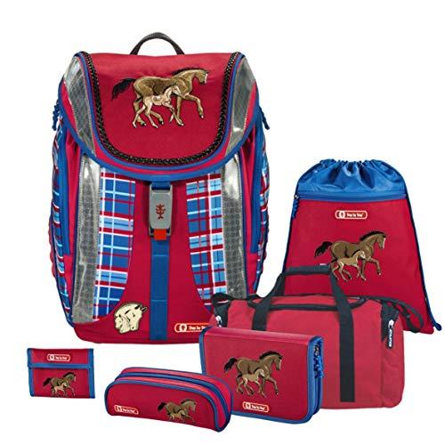 Horse Family - Pferd - Step by Step FLEXLINE Schulranzen-Set 6 TLG. mit Sporttasche