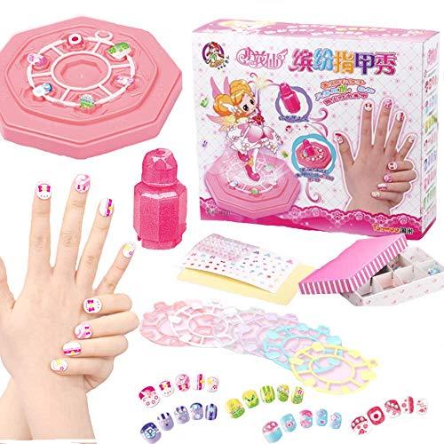 KTXX Juego de Pegatinas de Uñas para Niña Juego de Arte Hecho A Mano Parche Creativo para Uñas Ideal para Niñas Cumpleaños Juguetes para,Pink