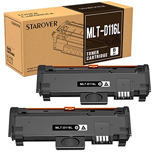 STAROVER MLT-D116L MLT-D116S Cartuccia toner Compatibile per Samsung Xpress SL M2675F M2835DW M2675 M2675FN M2676 M2625 M2625D M2825DW M2825ND M2826 M2875 M2875FD M2875FW M2876 M2885FW (2 pezzi)