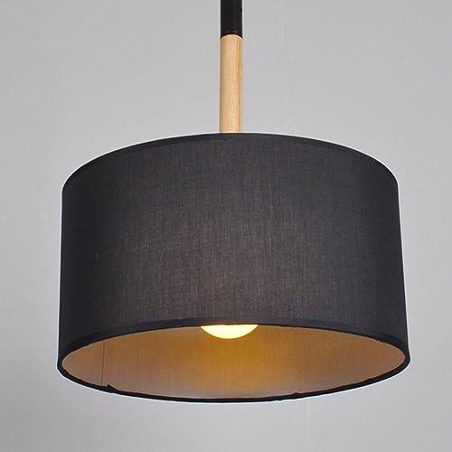 WSND Pendentif en bois Creative lumière Cafe Bar Salon Lustres Simple tête Corridor Simple pendentif Lamp