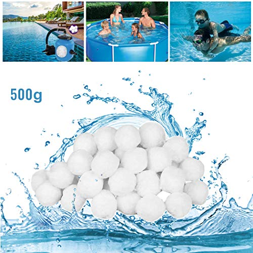 GothicBride Filter Balls 500g ersetzen 18 kg Filtersand, Filterbälle für Pool, Schwimmbad, Filterpumpe, Aquarium Sandfilter.