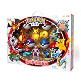rgbh Pokemon Toy Pikachu Figuras De Acción Charizard Gyarados Modelo De Dibujos Animados Figura Collectible Juguete Lujo Deformación Set Set