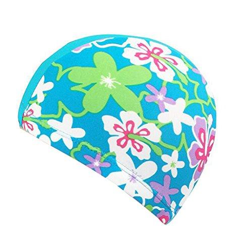 Gogokids Kinder Badekappe, Kinder Schwimmen Hut für Haarpflege und Gehörschutz Atmungsaktiv