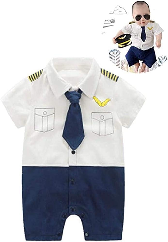 Baby Pilot for Boys Girls Popular overseas Halloween Romper Dallas Mall Cosplay Costu Uniform