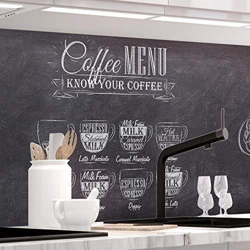 StickerProfis Küchenrückwand selbstklebend Pro Bistro MENU 60 x 220cm DIY - Do It Yourself PVC Spritzschutz