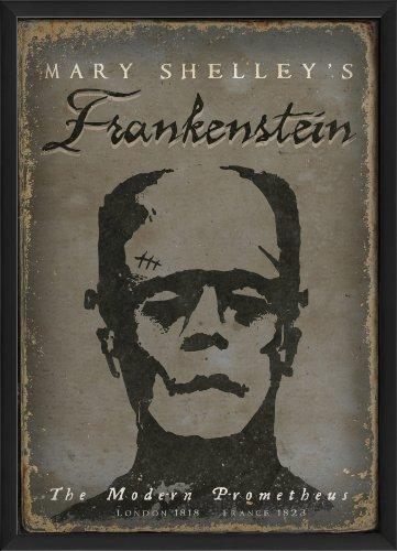 The Artwork Factory Impressão emoldurada de pôster Frankenstein