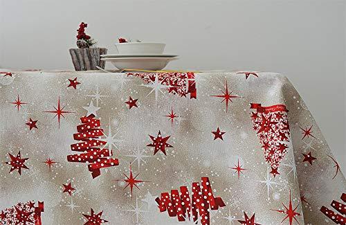 Cieffepi Home Collections Natale - Tovaglia Natalizia Tivoli (140 x 300 cm)