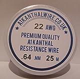 Kanthal A1-Filo di resistenza (22AWG), 0,64 mm, lunghezza 25 metri, bobina 4,26 Ω/m