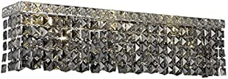 Chantal Chrome Contemporary 6-Light Vanity Fixture Heirloom Handcut Crystal in Silver Shade (Grey)-1729W26C-SS-RC--26