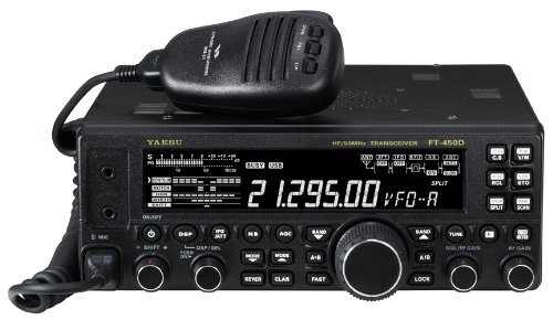 Yaesu Original FT-450D HF/50MHz Compact Amateur Base Transceiver - 100 Watts, IF DSP Technology