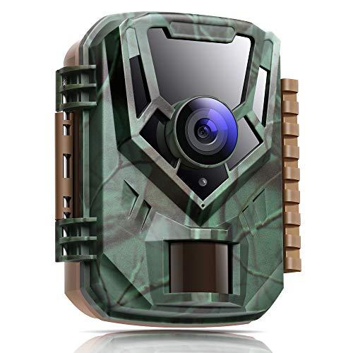 K&F Concept Wildkamera mit 850nm LEDs 16MP 1080P HD wasserdichte Staubdicht Infrarot-Nachtsicht Jagdkamera für den Außenbereich, 0,4s Schnelle Trigger Geschwindigkeit, IP65 Wasserdicht