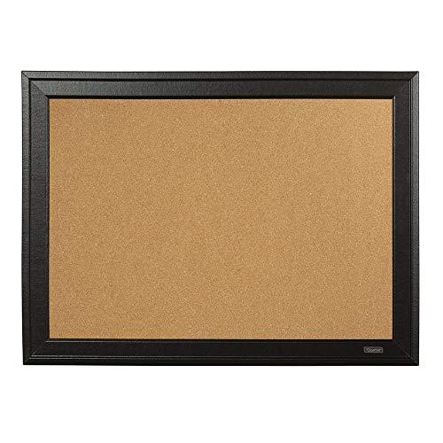 "Quartet Cork Board Bulletin Board, 17"" x 23"", Framed Corkboard, Black Frame, Decorative Hanging Pin Board, Perfect for Office & Home Decor, Home School Message Board or Vision Board (79281)"