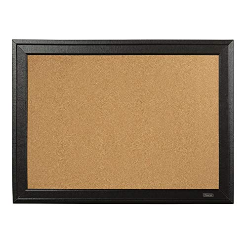 Quartet Cork Board Bulletin Board, 17' x 23', Framed Corkboard, Black Frame, Decorative Hanging Pin Board, Perfect for Office & Home Decor, Home School Message Board or Vision Board (79281)